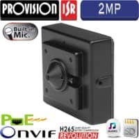 """מצלמת Pin-Hole רזולוציה 2MP עדשה 3.7 מ""""מ מיקרופון מובנה תמיכה כרטיס זיכרון"""