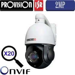 """מצלמת IP ממונעת 2MP זום כפול 20 עדשה 4.7-97 מ""""מ מרחק הארה 80 מטר מוגנת מים"""