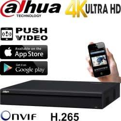 מערכת הקלטה NVR ל 16 מצלמות אבטחה IP עד 12MP דיסק 1TB דגם NVR4216-4K