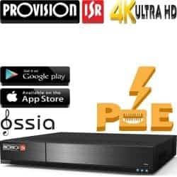 מערכת הקלטה NVR ל16 מצלמות PoE מובנה רזולוציה עד 4K 8MP דיסק 2TB תמיכה ב-H.265, יציאה מסך  HDMI 4K, מערכת הפעלה Ossia