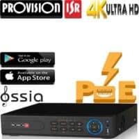 מערכת הקלטה NVR ל32 מצלמות, PoE מובנה ל 16 מצלמות רזולוציה עד 4K 8MP דיסק 2TB יציאה מסך HDMI 4K