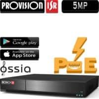 מערכת הקלטה NVR ל4 מצלמות אבטחה כולל סוויץ PoE מובנה רזולוציה עד 5MP דיסק 1TB