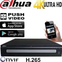 מערכת הקלטה NVR ל 64 מצלמות אבטחה IP רזולוציה 4K 12MP דיסק 4TB דגם NVR608-64-4