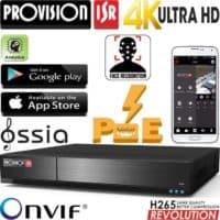 מערכת הקלטה NVR ל16 מצלמות PoE מובנה רזולוציה עד 4K 8MP דיסק 2TB