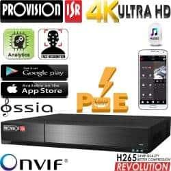 מערכת הקלטה ל 16 מצלמות אבטחה כולל PoE מובנה רזולוציה 4K 8MP דיסק 2TB זיהוי פנים