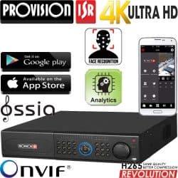 מערכת הקלטה NVR ל 32 מצלמות אבטחה רזולוציה 4K 8MP דיסק 2TB זיהוי פנים