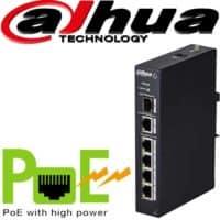 """סוויץ PoE ל 4 ערוצים 10/100 סה""""כ 60W כ4 ערוצי הורדה בנוסף קיימים עוד 2 ערוצי Uplink במהירות 100Mbps דגם: PFS3106-4P-60"""