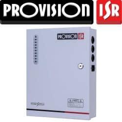 ספק כח מזווד 12V 10A ל 9 ערוצים עם הגנה תרמית לכל ערוץ. כולל אופציה לסוללת גיבוי. PR-10A9CH-B