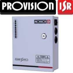 ספק כח מזווד 12V 5A ל 8 ערוצים עם הגנה תרמית לכל ערוץ. כולל אופציה לסוללת גיבוי. PR-5A8CH-B