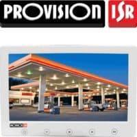 מסך מצלמות אבטחה דיגיטלי 7 אינץ LCD רזולוציה 480X234 עם כפתורי מגע, 2 כניסות וידאו אמבטיה זרוע בצבע לבן עיצוב דק במיוחד PR-IPS7-W