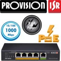 """סוויץ 4 ערוצים 10/100/1000 PoE סה""""כ 55W הערוצים משמשים גם כ-Down/Up-link בנוסף קיימים עוד ערוץ HPD 60W"""