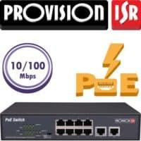 """סוויץ 8 ערוצים 10/100 PoE סה""""כ 120W הערוצים משמשים גם כ-Down-link/Up-link בנוסף קיימים עוד 2 ערוצי Up-link במהירות 1Gbps"""