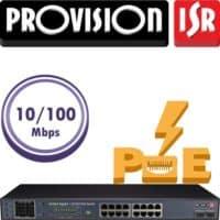 """סוויץ 16 ערוצים 10/100 PoE סה""""כ 300W הערוצים משמשים גם כ-Down-link/Up-link בנוסף קיימים עוד 2 ערוצי Up-link במהירות 1Gbps"""