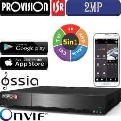 מערכת הקלטה ל 20 מצלמות אבטחה 16HD + 4IP רזולוציה 2MP lite  דיסק 2TB