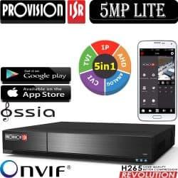 מערכת הקלטה 5MP lite ל 24 מצלמות אבטחה 16HD + 8IP דיסק 2TB