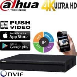 מערכת הקלטה NVR ל 32 מצלמות אבטחה IP רזולוציה 4K 8MP דיסק 3TB דגם NVR5432-4K
