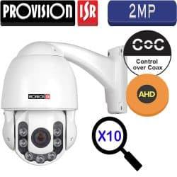 """מצלמה ממונעת AHD רזולוציה 2MP זום אופטי X10 עדשה משתנה 3.8-38 מ""""מ"""