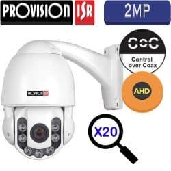 """מצלמה ממונעת AHD רזולוציה 2MP זום אופטי X20 עדשה משתנה 4.3-87 מ""""מ מרחק הארה 100 מטר Z-20AHD-2"""