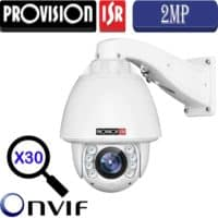 """מצלמת IP ממונעת 2MP זום X30 עדשה 4.3-129 מ""""מ מרחק הארה 150 מטר מוגנת מים אודיו דו כיווני"""