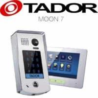"""קיט אינטרקום טלוויזיה 2 גידים משולב קודן דגם moon-7 + מסך 7 אינץ עיצוב יוקרתי עובי 15 מ""""מ בעברית דגם  TAD-37M"""