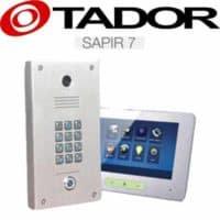 """קיט אינטרקום טלוויזיה 2 גידים כולל קודן דגם SAPIR-7 + מסך 7 אינץ עיצוב יוקרתי עובי 15 מ""""מ בעברית דגם  TAD-37M"""