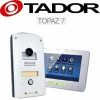 """קיט אינטרקום טלוויזיה 2 גידים דגם Topaz-7 + מסך 7 אינץ עיצוב יוקרתי עובי 15 מ""""מ בעברית דגם  TAD-37M"""